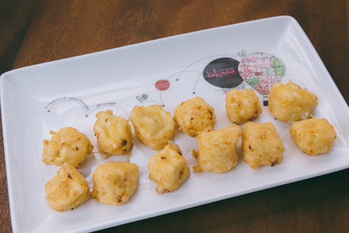 Idiazabal cheese fritters